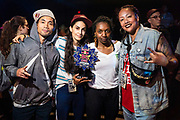 B girl Macca and Judges during Red Bull BC One Houston, TX May 18, 2019