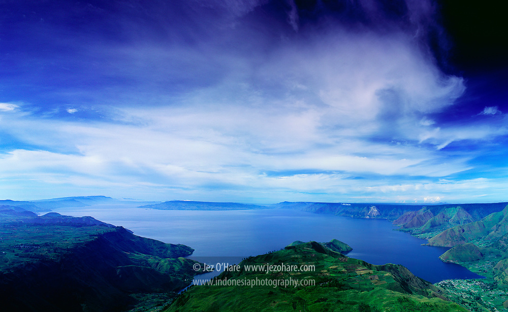 Lake Toba seen from Sibaulangit, North Sumatra, Indonesia.