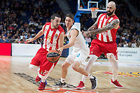 Real Madrid Jaycee Carroll and Crvena Zvezda Taylor Rochestie and Pero Antic during Turkish Airlines Euroleague match between Real Madrid and Crvena Zvezda at Wizink Center in Madrid, Spain. December 01, 2017. (ALTERPHOTOS/Borja B.Hojas)