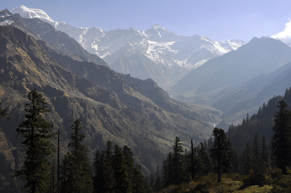 The upper reaches of the Hanuman Ganga River, with Bandarpunch Peak in the background.