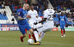 Marcus Maddison of Peterborough United is fouled by Mouhamadou-Naby Sarr of Charlton Athletic for the penalty - Mandatory by-line: Joe Dent/JMP - 10/03/2018 - FOOTBALL - ABAX Stadium - Peterborough, England - Peterborough United v Charlton Athletic - Sky Bet League One
