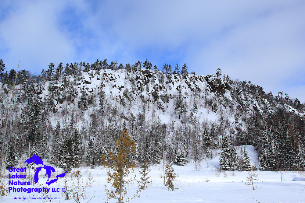 The Cliff Range is one of the beautiful features of the Keweenaw, particularly in winter.