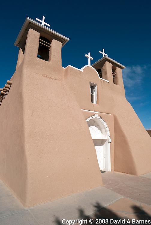 San Francisco de Asis Church, mission of Ranchos de Taos, New Mexico, USA