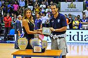 """DESCRIZIONE : Torneo Città di Sassari """"Mimì Anselmi"""" Premiazione<br /> GIOCATORE : Massimo Bulleri<br /> CATEGORIA : Premio Award Coppa Targa Premiazione<br /> SQUADRA : Enel Brindisi<br /> EVENTO :  Torneo Città di Sassari """"Mimì Anselmi"""" <br /> GARA : Dinamo Banco di Sardegna Sassari - Galatasaray<br /> DATA : 14/09/2014<br /> SPORT : Pallacanestro <br /> AUTORE : Agenzia Ciamillo-Castoria / Luigi Canu<br /> Galleria : Precampionato 2014/2015<br /> Fotonotizia : Torneo Città di Sassari """"Mimì Anselmi"""" Premiazione<br /> Predefinita :"""