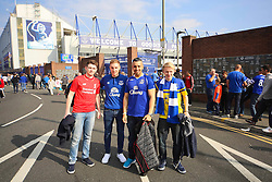 Everton and Liverpool fans together outside Goodison Park - Mandatory byline: Matt McNulty/JMP - 07966 386802 - 04/10/2015 - FOOTBALL - Goodison Park - Liverpool, England - Everton  v Liverpool - Barclays Premier League