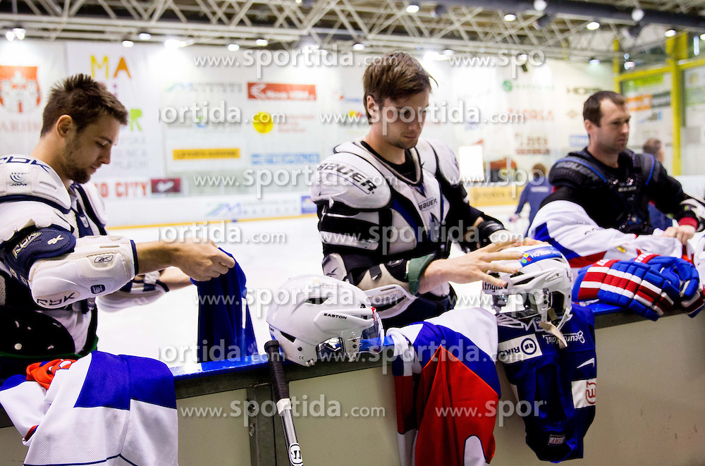 Blaz Gregorc during Media day of Slovenian Ice Hockey National Team before World Championships Group A in Sweden, Stockholm, on April 29, 2013, in Ice arena Tabor, Maribor, Slovenia. (Photo By Vid Ponikvar / Sportida.com)