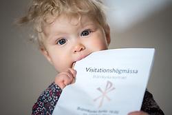 22 Oktober 2017, Brännkyrka, Stockholm: Visitationshögmässa firas i Brännkyrka kyrka, efter att Stockholms biskop Eva Brunne besökt Brännkyrka församling torsdag-söndag, 19-22 oktober 2017. Foto taget med målsmans muntliga samtycke.