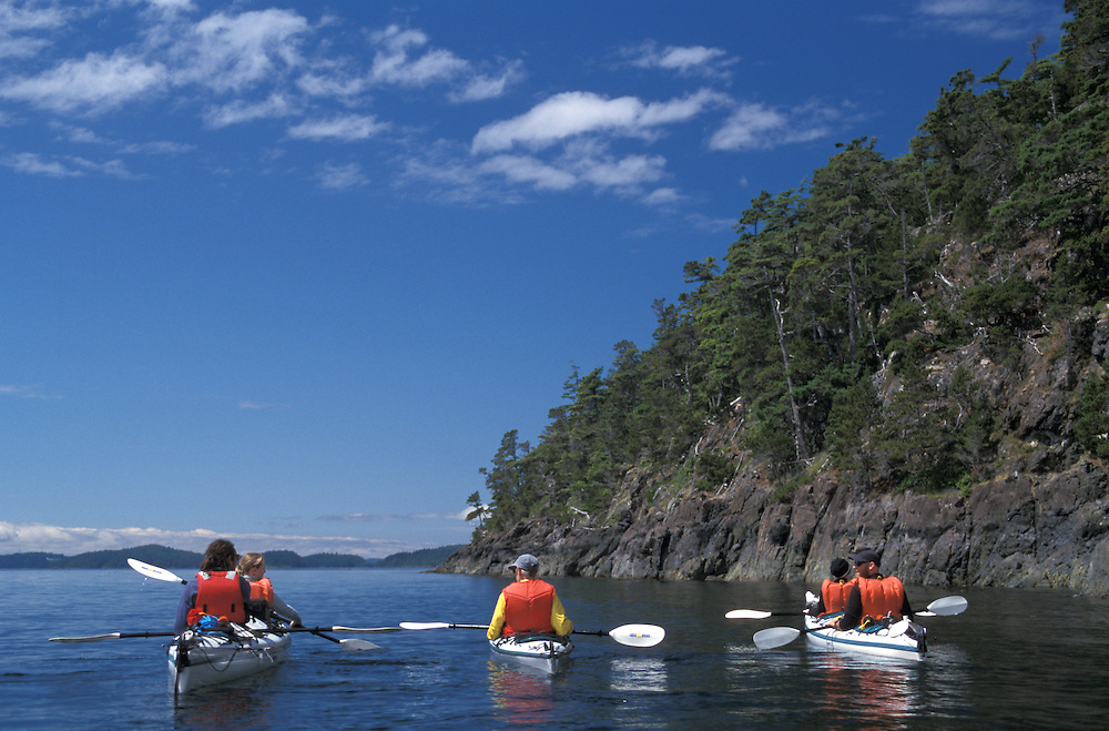 Sea Kayaking, Inside Passage,Vancouver Island, British Columbia, Canada