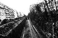 Vue depuis un passage du 14ème arrondissement, au sud de Paris.