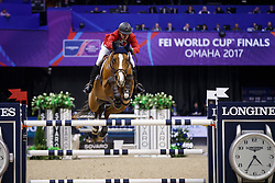 Jacobs Charlie, USA, Cassinja S<br /> Longines FEI World Cup Jumping Final IV, Omaha 2017 <br /> © Hippo Foto - Dirk Caremans<br /> 02/04/2017