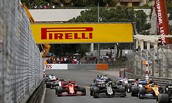 May 26, 2019 - Monte Carlo, Monaco - Motorsports: FIA Formula One World Championship 2019, Grand Prix of Monaco, ..Start, #4 Lando Norris (GBR, McLaren F1 Team), #8 Romain Grosjean (FRA, Rich Energy Haas F1 Team), #16 Charles Leclerc (MCO, Scuderia Ferrari Mission Winnow) (Credit Image: © Hoch Zwei via ZUMA Wire)
