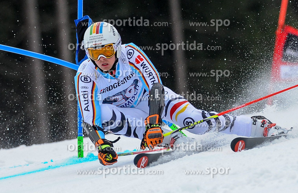 01.03.2015, Kandahar, Garmisch Partenkirchen, GER, FIS Weltcup Ski Alpin, Garmisch Partenkirchen, Riesenslalom, Herren, 1. Lauf, im Bild Stefan Luitz (GER) // Stefan Luitz of Germany in action during 1st run for the men's Giant Slalom of the FIS Ski Alpine World Cup at the Kandahar in Garmisch Partenkirchen, Germany on 2015/03/01. EXPA Pictures © 2015, PhotoCredit: EXPA/ Erich Spiess