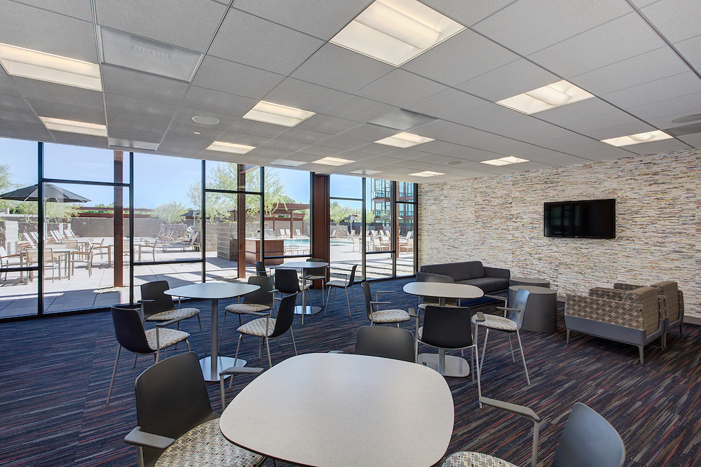 Event room at Domus apartment complex in Phoenix, Arizona