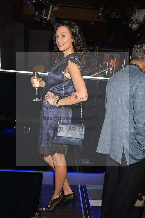 LILLY BECKER at a party to celebrate the 1st anniversary of Hello! Fashion Monthly magazine held at Charlie, 15 Berkeley Street, London on 14th October 2015.