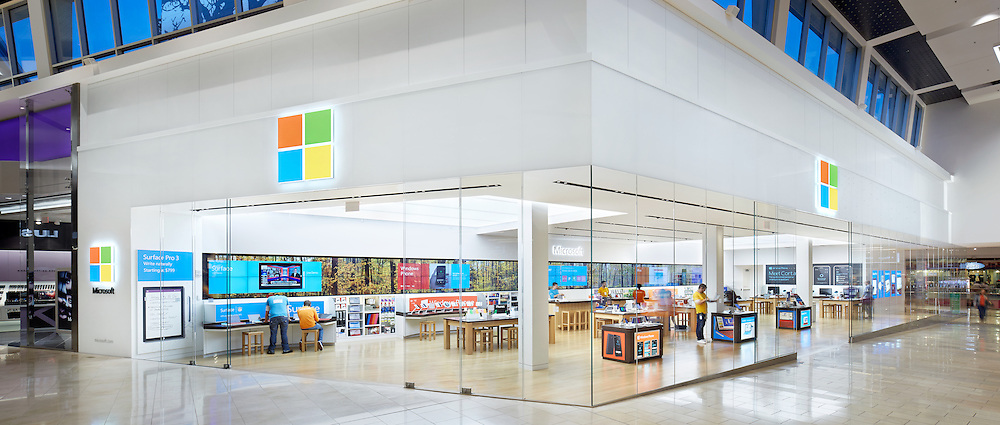 Microsoft Retail Store At The Westfield Garden State Plaza Mall In New Jersey Photographed By