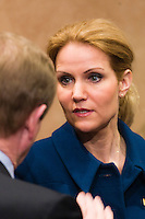 2012 March 1st, Brussels, Belgium.  SOCIAL SUMMIT  <br /> for Growth and Employment at the start of the EU Summit March 2012 In this picture Ireland's Prime Minister Enda Kenny and Denmark's Prime Minister Helle Thorning-Schmidt.