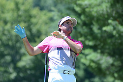 July 8, 2018 - White Sulphur Springs, WV, U.S. - WHITE SULPHUR SPRINGS, WV - JULY 08: Bubba Watson lets go of his club on his tee shot on the third hole during the final round of the Military Tribute at the Greenbrier in White Sulphur Springs, WV, on July 8, 2018.(Photo by Brian Bishop/Icon Sportswire) (Credit Image: © Brian Bishop/Icon SMI via ZUMA Press)