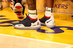 February 27, 2019 - Los Angeles, CA, U.S. - LOS ANGELES, CA - FEBRUARY 27: New Orleans Pelicans Forward Stanley Johnson (3) shoes before the New Orleans Pelicans versus Los Angeles Lakers game on February 27, 2019, at Staples Center in Los Angeles, CA. (Photo by Icon Sportswire) (Credit Image: © Icon Sportswire/Icon SMI via ZUMA Press)