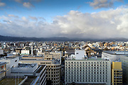 view over Kyoto from train station looking North