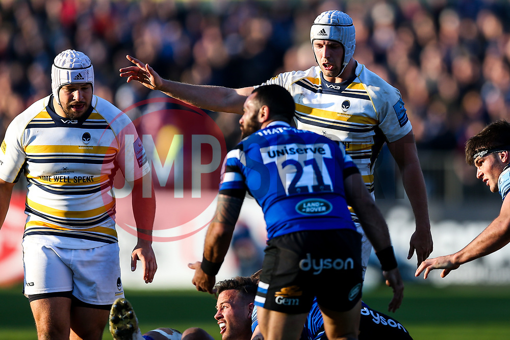Pierce Phillips of Worcester Warriors looks on - Rogan/JMP - 17/11/2018 - RUGBY UNION - The Recreation Ground - Bath, England - Bath Rugby v Worcester Warriors - Gallagher Premiership.