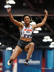 2020 USATF Indoor Championship<br /> Albuquerque, NM 2020-02-15<br /> photo credit: © 2020 Kevin Morris<br /> womens long jump, adidas