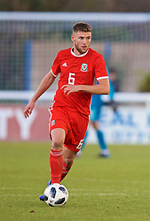 BANGOR, WALES - Saturday, November 17, 2018: Wales' Brandon Cooper during the UEFA Under-19 Championship 2019 Qualifying Group 4 match between Sweden and Wales at the Nantporth Stadium. (Pic by Paul Greenwood/Propaganda)