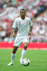 LONDON, ENGLAND - Saturday, June 2, 2012: England's Ashley Cole in action against Belgium during the International Friendly match at Wembley. (Pic by David Rawcliffe/Propaganda)