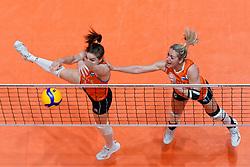11–01-2020 NED: Semi Final Olympic qualification tournament women Germany - Netherlands, Apeldoorn<br /> First semi final match Germany - Netherlands 3-0 / Yvon Beliën #3 of Netherlands, Maret Balkestein-Grothues #6 of Netherlands