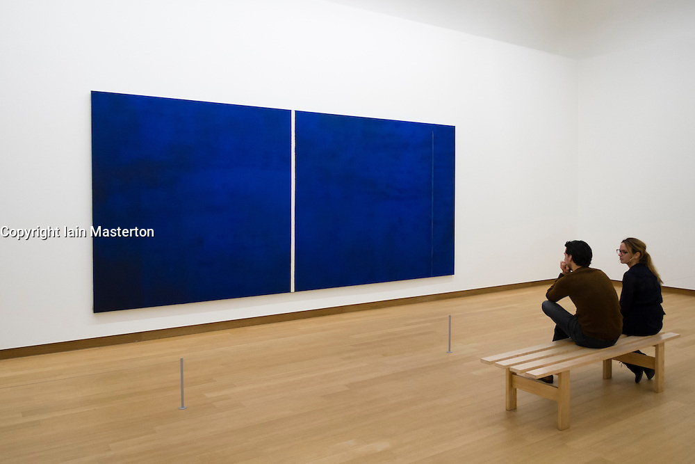 Painting Cathedral by Barnett Newman at Stedelijk Museum  in Amsterdam The Netherlands