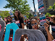 09 JUNE 2019 - CEDAR RAPIDS, IOWA: Cory Booker supporters rally before the Iowa Democrats 2019 Hall of Fame Celebration in the Cedar Rapids Convention Center. Nineteen of the Democratic candidates for president in 2020 spoke at the annual event. Iowa traditionally hosts the the first election event of the presidential election cycle. The Iowa Caucuses will be on Feb. 3, 2020.                          PHOTO BY JACK KURTZ