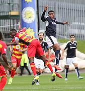 Dundee new boy Riccardo Calder and Partick Thistle&rsquo;s Abdul Osman - Partick Thistle v Dundee, Ladbrokes Premiership at Firhill<br /> <br />  - &copy; David Young - www.davidyoungphoto.co.uk - email: davidyoungphoto@gmail.com