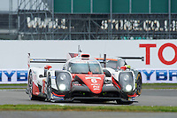 Stephane Sarrazin (FRA) / Mike Conway (GBR) / Kamui Kobayashi (JPN) #6 Toyota Gazoo Racing Toyota TS050 Hybrid, during Free Practice 1  as part of the WEC 6 Hours of Silverstone 2016 at Silverstone, Towcester, Northamptonshire, United Kingdom. April 15 2016. World Copyright Peter Taylor. Copy of publication required for printed pictures.