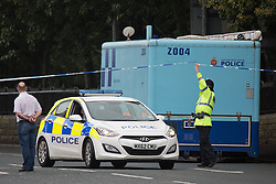 "© Licensed to London News Pictures. 27/07/2015. Salford, UK. Scene on Manchester Road , Clifton , Salford where Paul Massey - known as Salford's ""Mr Big"" was shot dead last night (26th July 2015 ) . Photo credit: Joel Goodman/LNP"