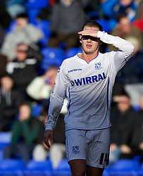 BIRKENHEAD, ENGLAND - Saturday, February 18, 2012: Tranmere Rovers' Adam McGurk in action against Charlton Athletic during the Football League One match at Prenton Park. (Pic by Vegard Grott/Propaganda)