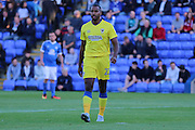 AFC Wimbledon striker Tyrone Barnett (23) during the EFL Cup match between Peterborough United and AFC Wimbledon at ABAX Stadium, Peterborough, England on 9 August 2016. Photo by Stuart Butcher.
