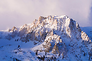 Winter dawn on Carson Peak, June Lake, California