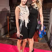 NLD/Amsterdam/20131111 - Beau Monde Awards 2013, Kimberly Klaver en vriendin