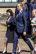 Medailleuitreiking op het Binnenhof.<br /> <br /> Op de foto: Vice-premier Hugo de Jonge en Tweede Kamer-voorzitter Khadija Arib