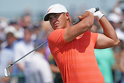 June 16, 2018 - Southampton, NY, USA - Brooks Koepka hits from the 1st tee during the third round of the 2018 U.S. Open at Shinnecock Hills Country Club in Southampton, N.Y., on Saturday, June 16, 2018. (Credit Image: © Brian Ciancio/TNS via ZUMA Wire)