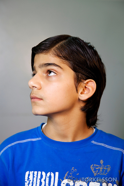 Omar (not his real name) is 13 years old and comes from the Damascus area.<br /> Photos Ola Torkelsson <br /> Copyright Ola Torkelsson &copy; 2013