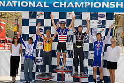 Men's Division 1 individual criterium winners Phillip Mann (Colorado State University), Steve Scholzen (University of Wisconsin - Madison), Alex Boyd (Midwestern State University), Joshua Lipka (University of New Hampshire), and Rodney Santiago (Pennsylvania State University).Podium awards were given out after The 2008 USA Cycling Collegiate National Championships Criterium event held in Fort Collins, CO on May 11, 2008.