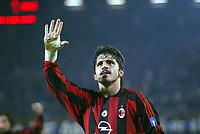 Fotball, 4. november 2003, Champions League,, Club Brugge ( Brügge )-Milan 0-1,  Gattuso, Milan