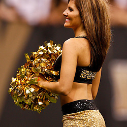 August 27, 2010; New Orleans, LA, USA; New Orleans Saints Saintsations cheerleaders perform during the second half of a preseason game at the Louisiana Superdome. The New Orleans Saints defeated the San Diego Chargers 36-21. Mandatory Credit: Derick E. Hingle-US PRESSWIRE