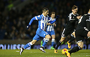 Brighton striker, Anthony Knockaert (27) during the Sky Bet Championship match between Brighton and Hove Albion and Brentford at the American Express Community Stadium, Brighton and Hove, England on 5 February 2016.
