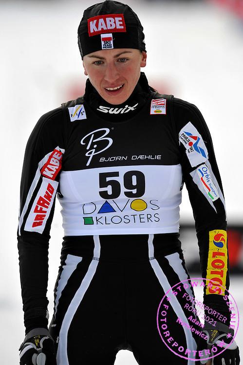 GEPA-1312085615 - DAVOS,SCHWEIZ,13.DEZ.08 - SKI NORDISCH, LANGLAUF - FIS Weltcup Davos, 10km klassisch, Damen. Bild zeigt Justyna Kowalczyk (POL). Foto: GEPA pictures/ Oliver Lerch.FOT. GEPA / WROFOTO.*** POLAND ONLY !!! ***