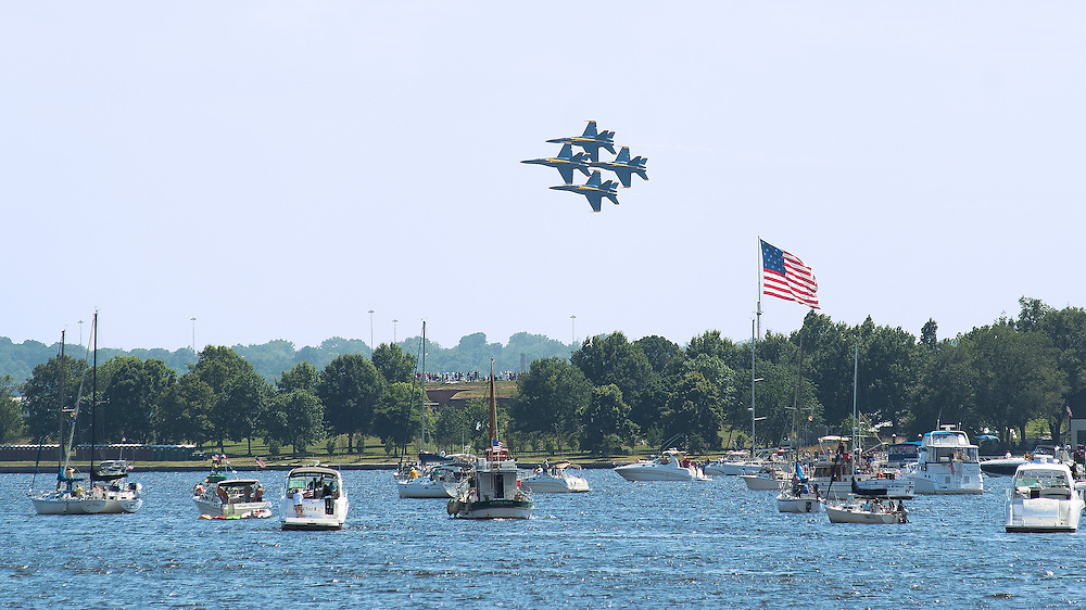 US Navy Blue Angels over Fort McHenry in Baltimore, Md