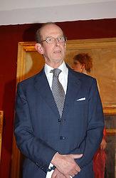 HRH the DUKE OF KENT  at the Royal Society of Portrait Painters annual show held at The Mall Galleries, The Mall, London on 26th April 2005.<br />
