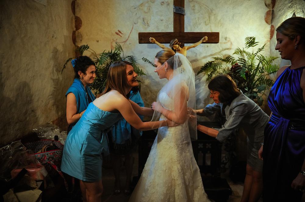 20120311Saturday162450.Shelley Myers and Charles Watson wedding Saturday, March 10, 2012 in San Antonio..Mission Concepcion, Westin Riverwalk.Saturday3/10/12.Photo © Bahram Mark Sobhani