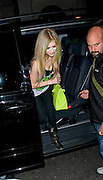01.JUNE.2011. LONDON<br /> <br /> SINGER AVRIL LAVIGNE SEEN AT THE MAYFAIR HOTEL, IN LONDON.<br /> <br /> BYLINE: EDBIMAGEARCHIVE.COM<br /> <br /> *THIS IMAGE IS STRICTLY FOR UK NEWSPAPERS AND MAGAZINES ONLY*<br /> *FOR WORLD WIDE SALES AND WEB USE PLEASE CONTACT EDBIMAGEARCHIVE - 0208 954 5968*