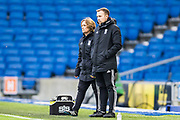 Marta Tejedor, Manager of Birmingham City FC during the FA Women's Super League match between Brighton and Hove Albion Women and Birmingham City Women at the American Express Community Stadium, Brighton and Hove, England on 17 November 2019.